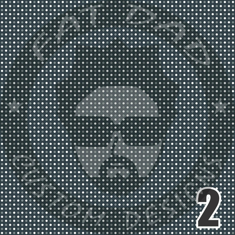 Navy and Gray Bandana Theme Printed Heat Transfer Vinyl (HTV)