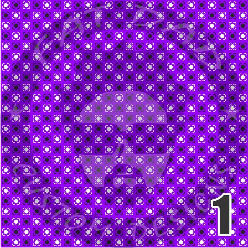 Purple Bandana Theme Heat Transfer Vinyl (HTV)