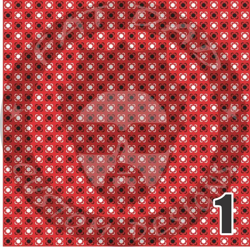 Red Bandana Theme Heat Transfer Vinyl (HTV)