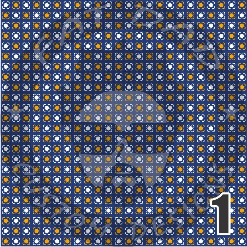 Royal Blue and Gold Bandana Theme Heat Transfer Vinyl (HTV)