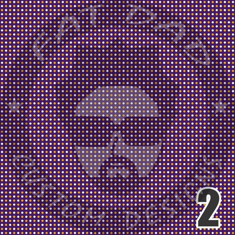 Purple and Gold Bandana Theme Printed Heat Transfer Vinyl (HTV)