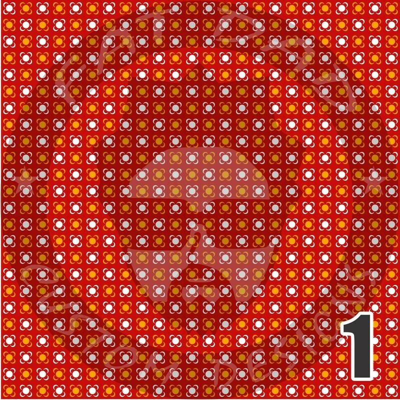 Red and Gold Bandana Theme Heat Transfer Vinyl (HTV)