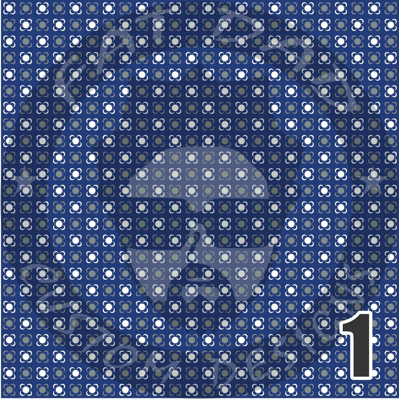 Royal Blue and Gray Bandana Theme Heat Transfer Vinyl (HTV)