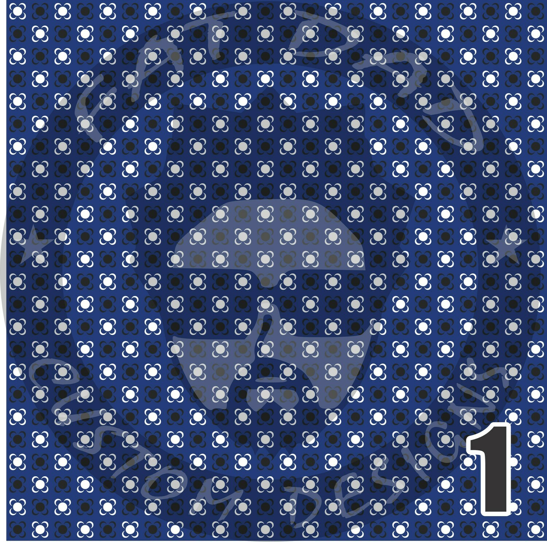 Royal Blue Bandana Theme Heat Transfer Vinyl (HTV)