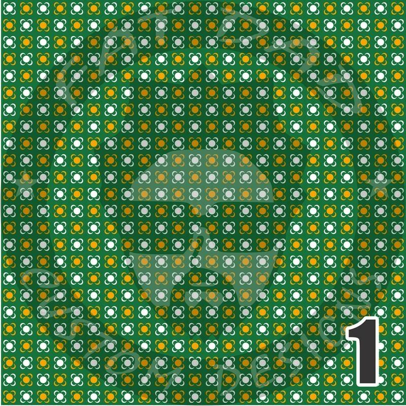 Green and Gold Bandana Theme Heat Transfer Vinyl (HTV)