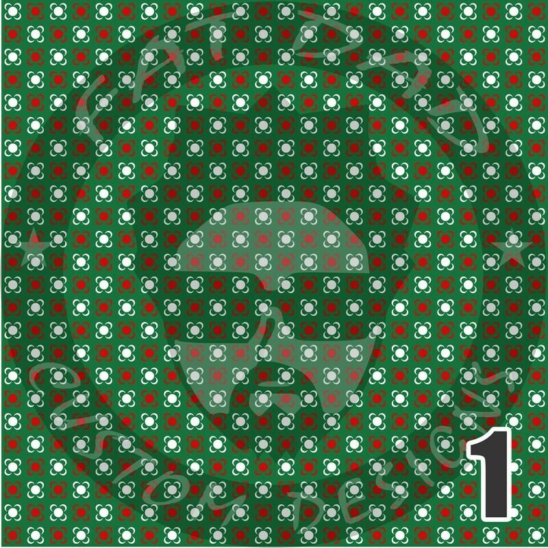 Green and Red Bandana Theme Printed Heat Transfer Vinyl (HTV)