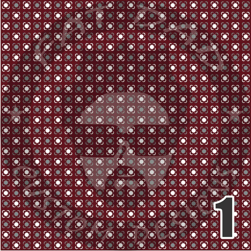 Maroon Bandana Theme Printed Heat Transfer Vinyl (HTV)