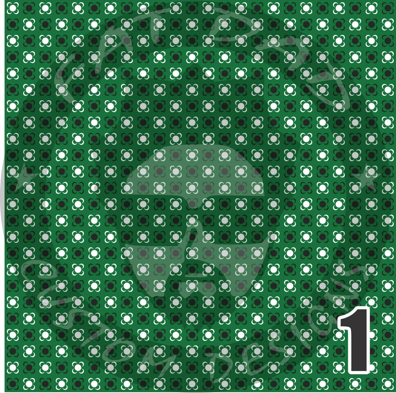 Green Bandana Theme Printed Heat Transfer Vinyl