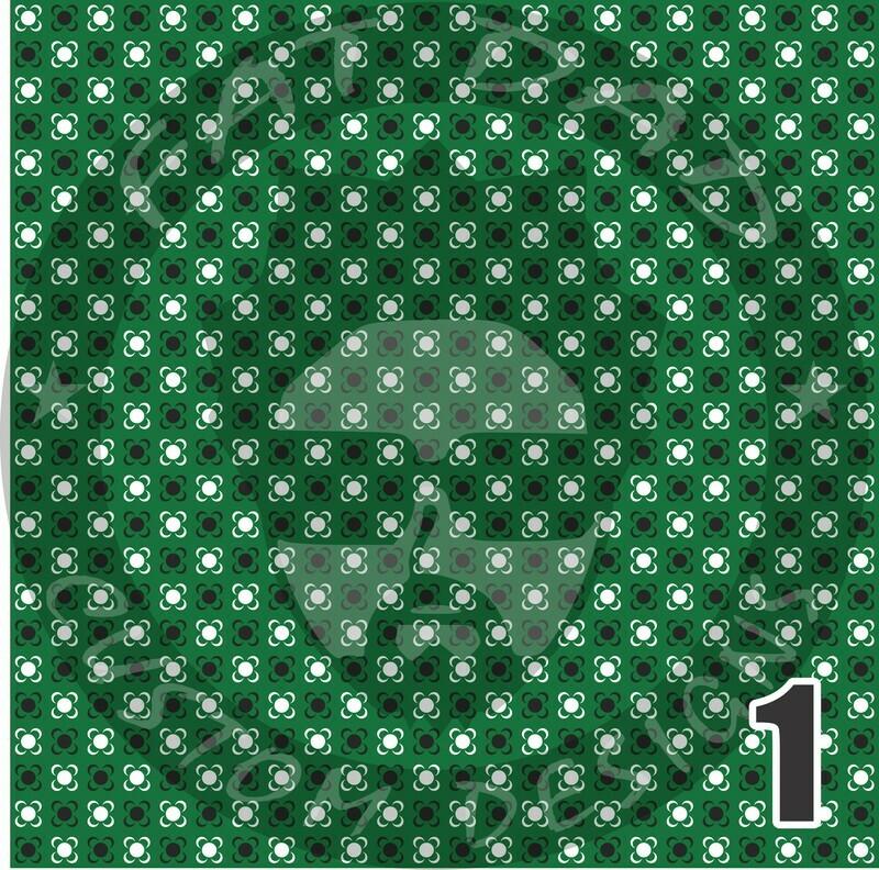Green Bandana Theme Printed Adhesive Craft Vinyl