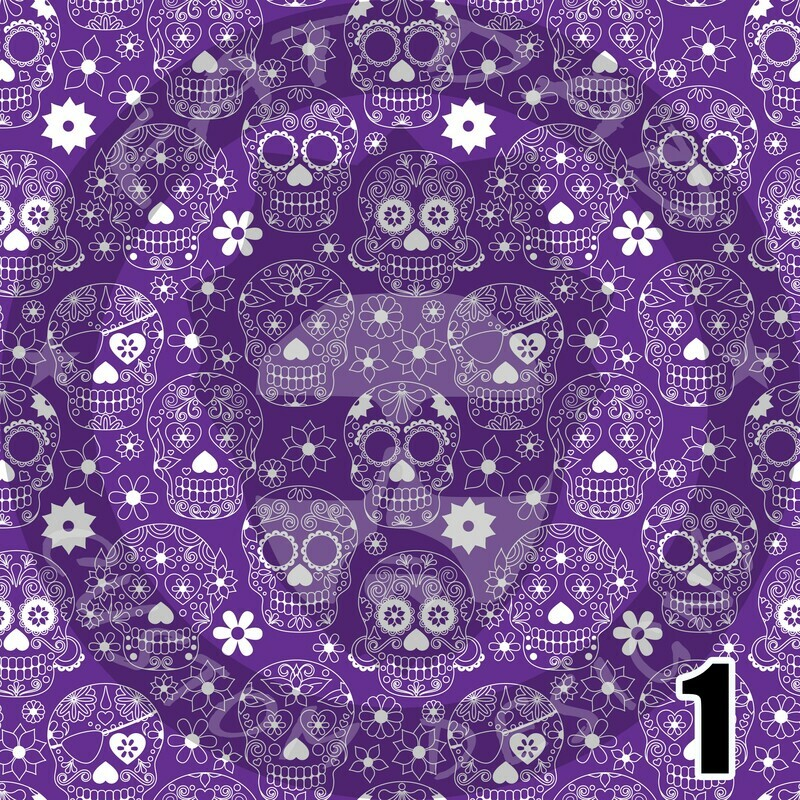 Day of the Dead Theme Printed Heat Transfer Vinyl (HTV)
