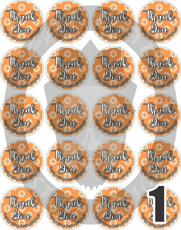 Fall Thank You Stickers