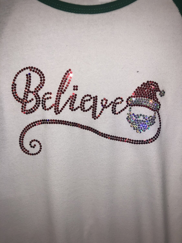 Believe Santa Spangle Transfer