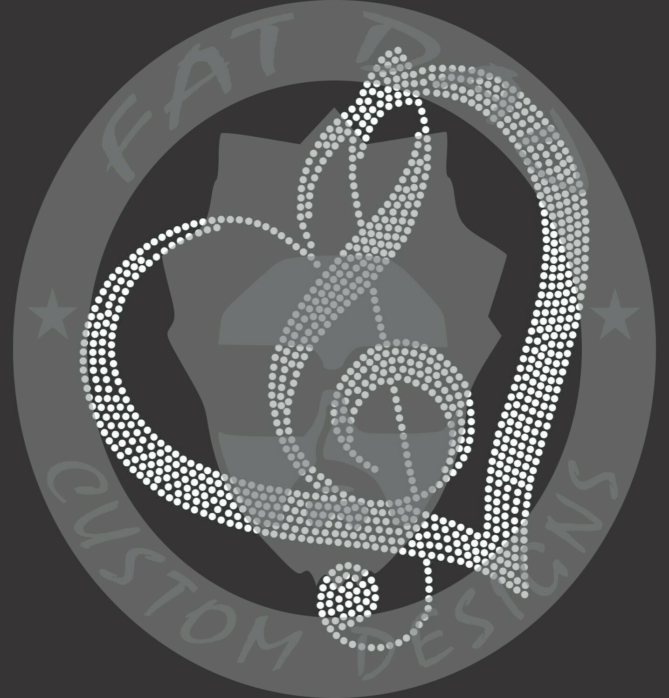 Music Heart Spangle Transfer