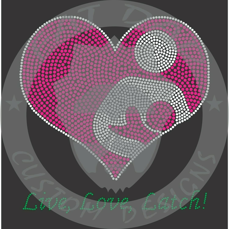 Live, Latch, Love Spangle Transfer
