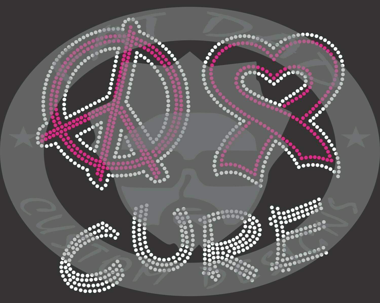 Peace Love Cure Spangle Transfer