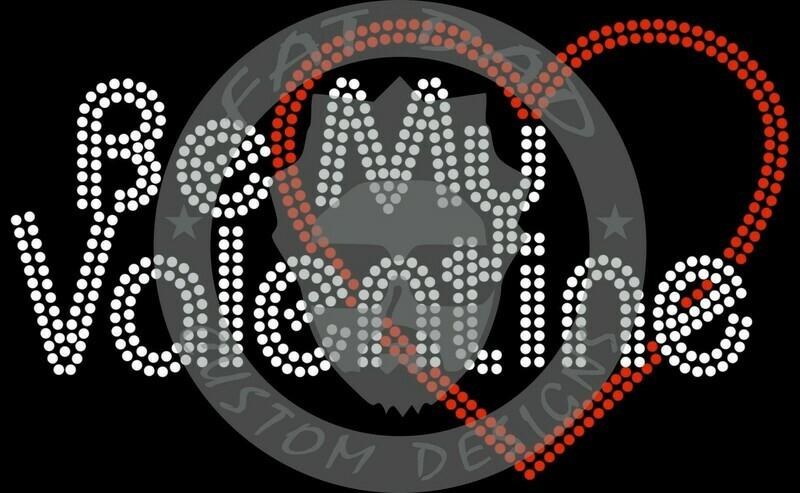Be Mine Heart 1 Spangle Transfer