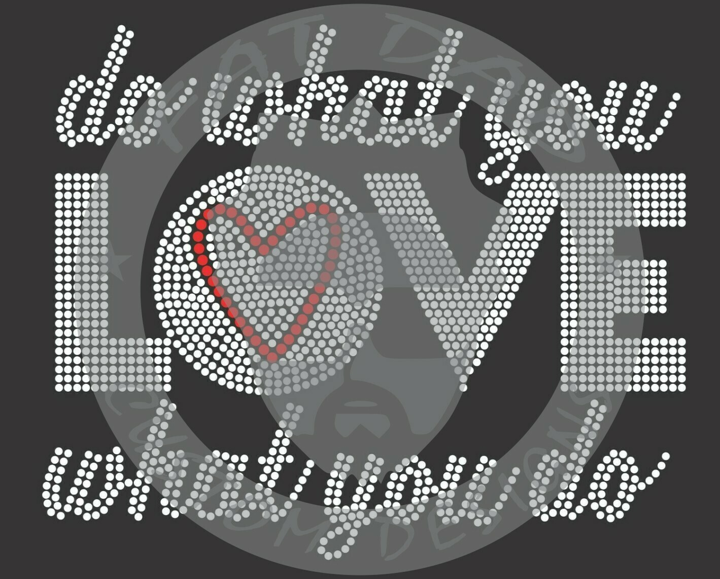 Do What You Love Spangle Transfer