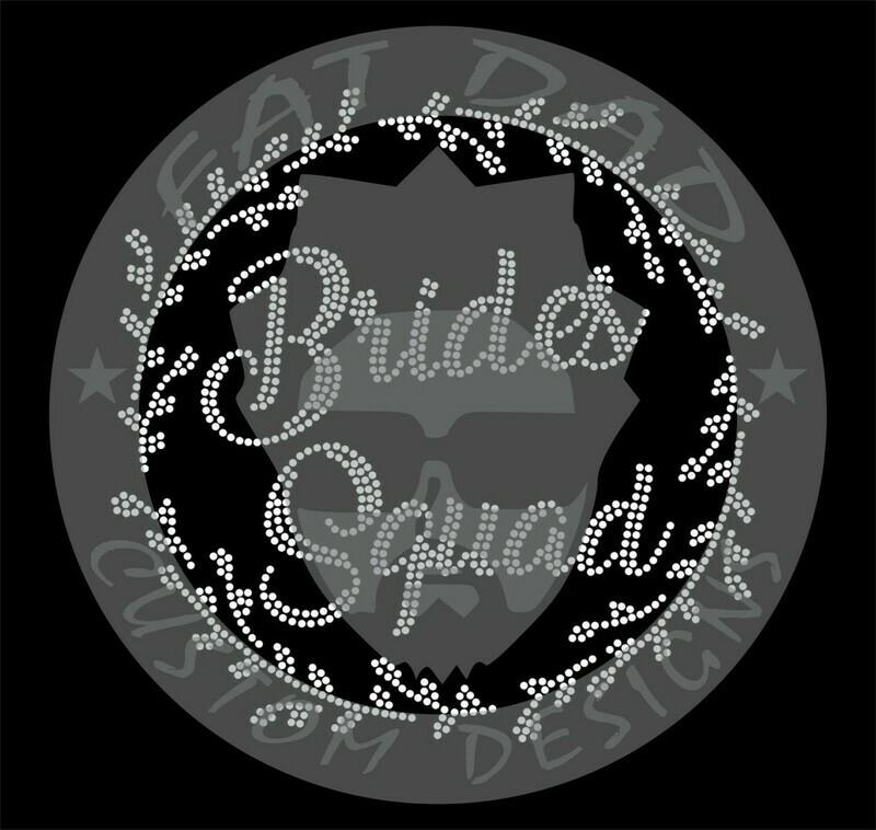 Bride Squad Spangle Transfer