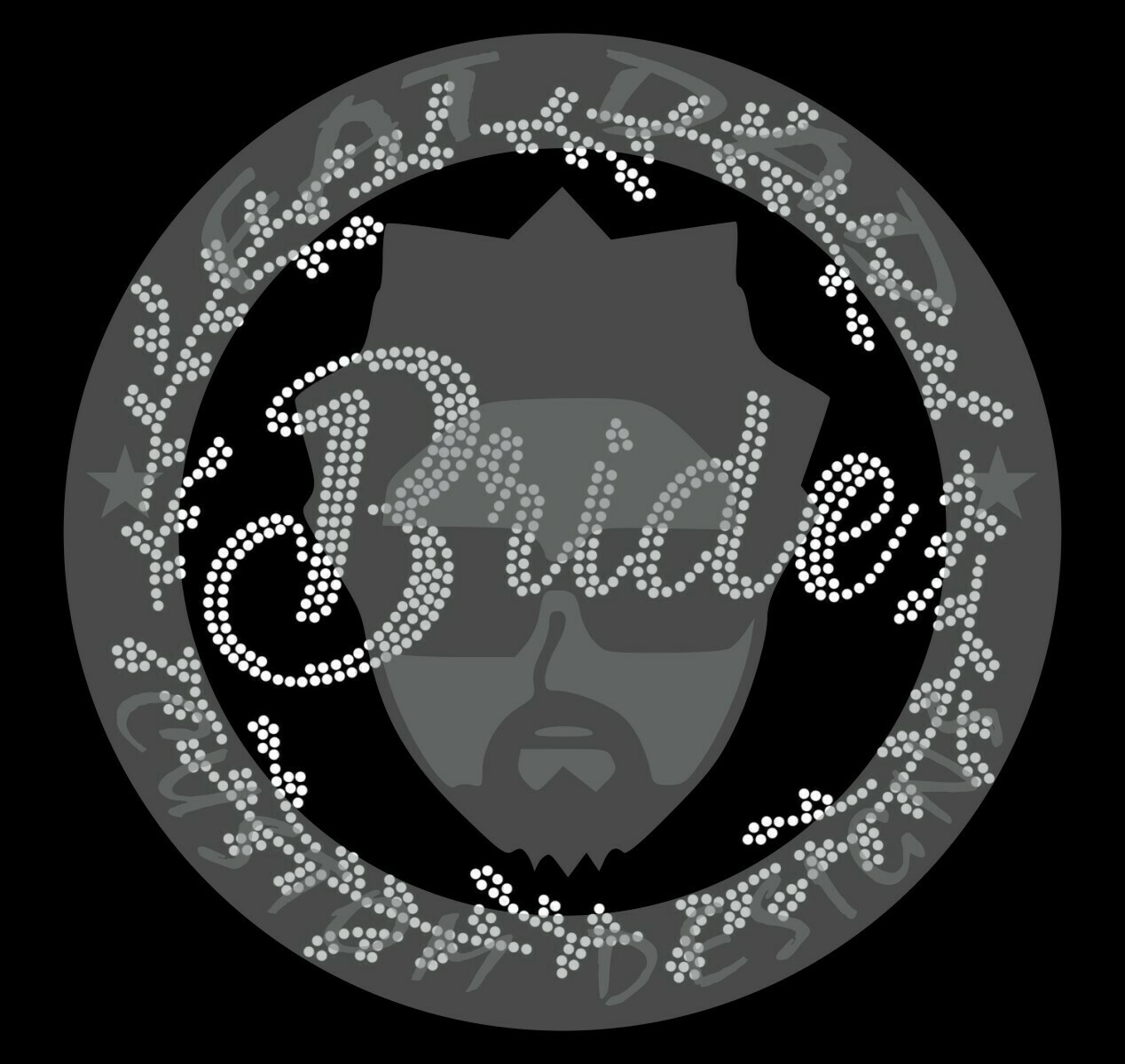 Bride in Circle Spangle Transfer