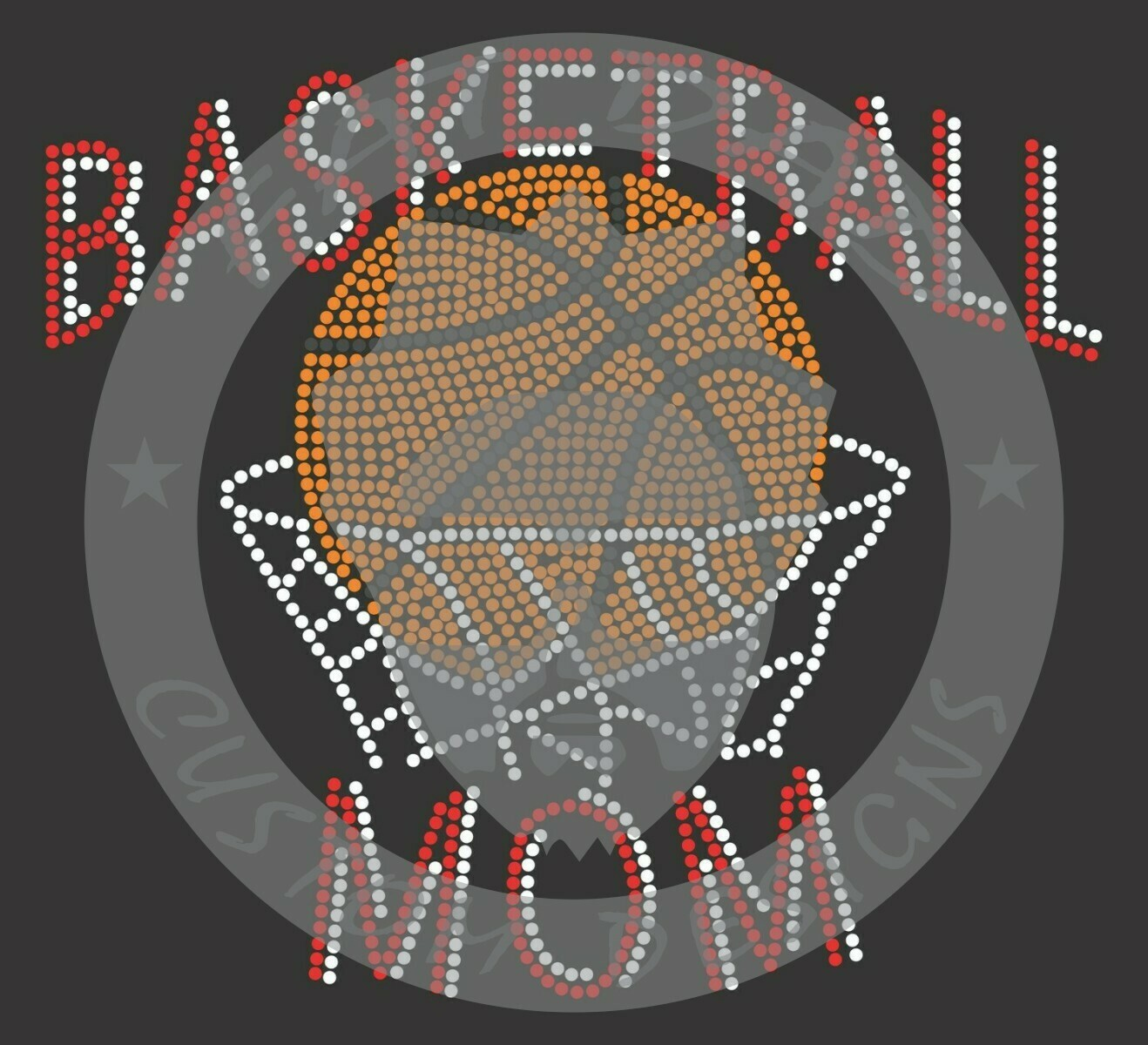Basketball Spangle Design