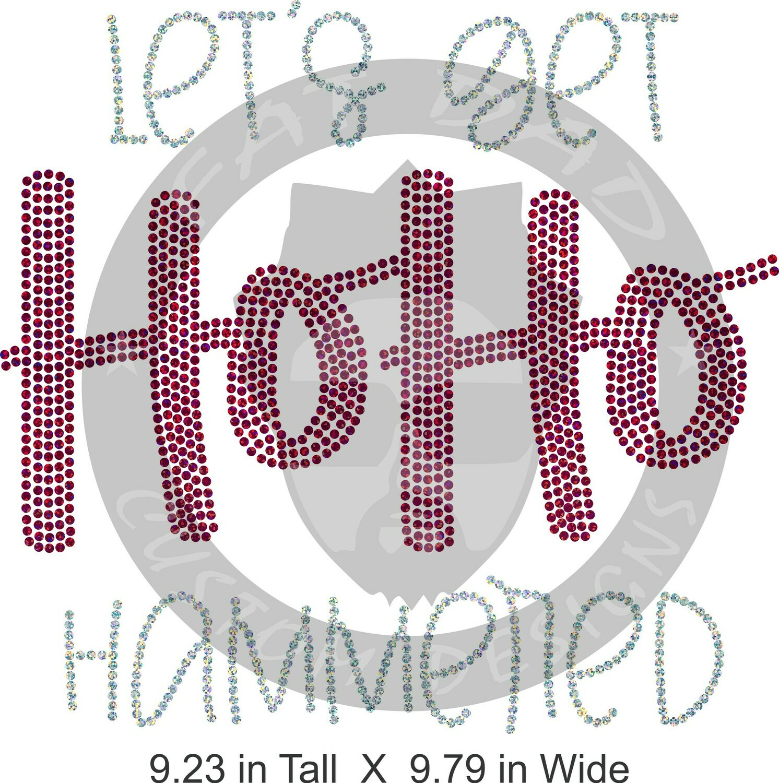 Let's Get HoHo Hammered Spangle Transfer