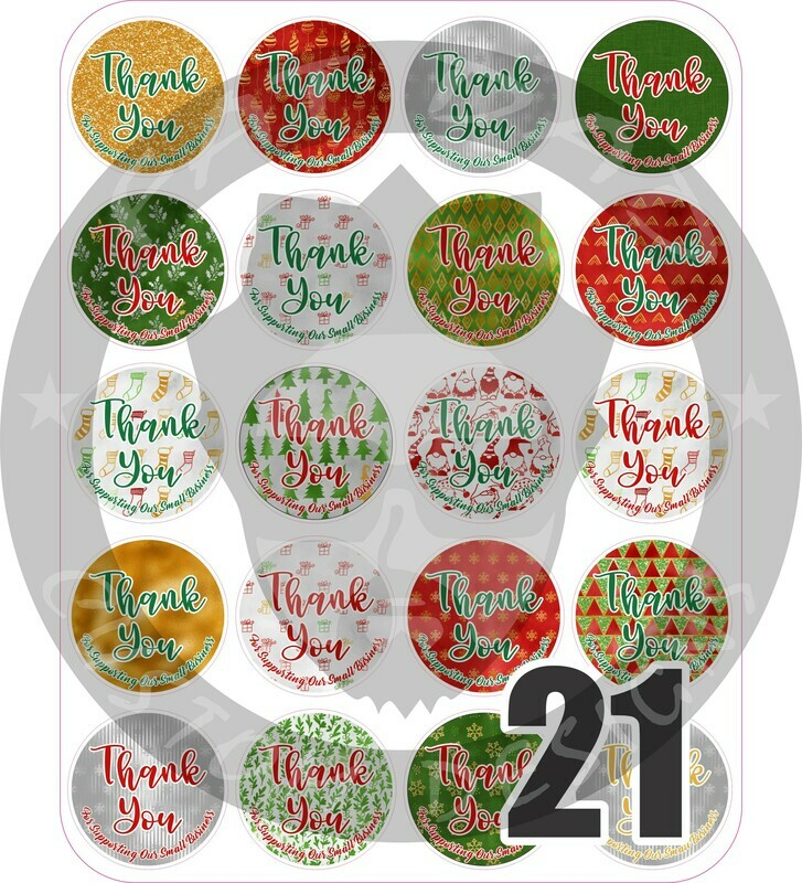 Holiday Thank You Stickers