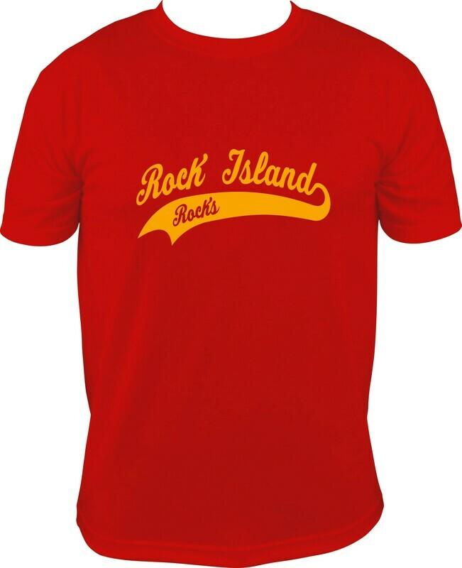 Rock Isalnd Script Logo Shirt
