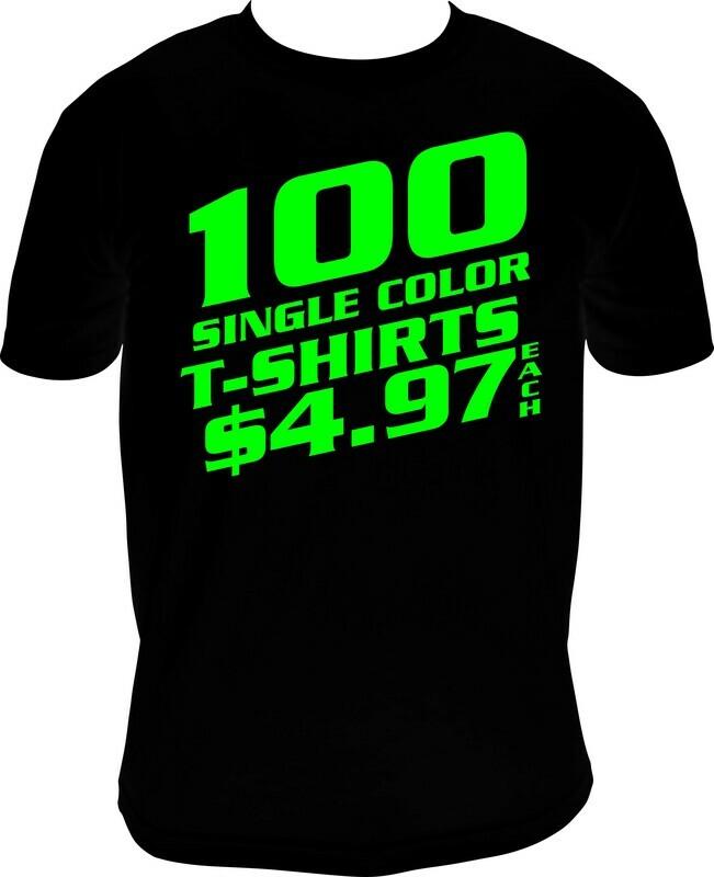 100 BLACK SHIRT SPECIAL
