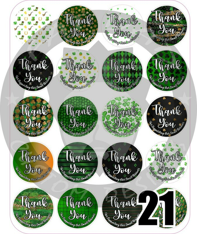 St. Patricks's Day Thank You Stickers
