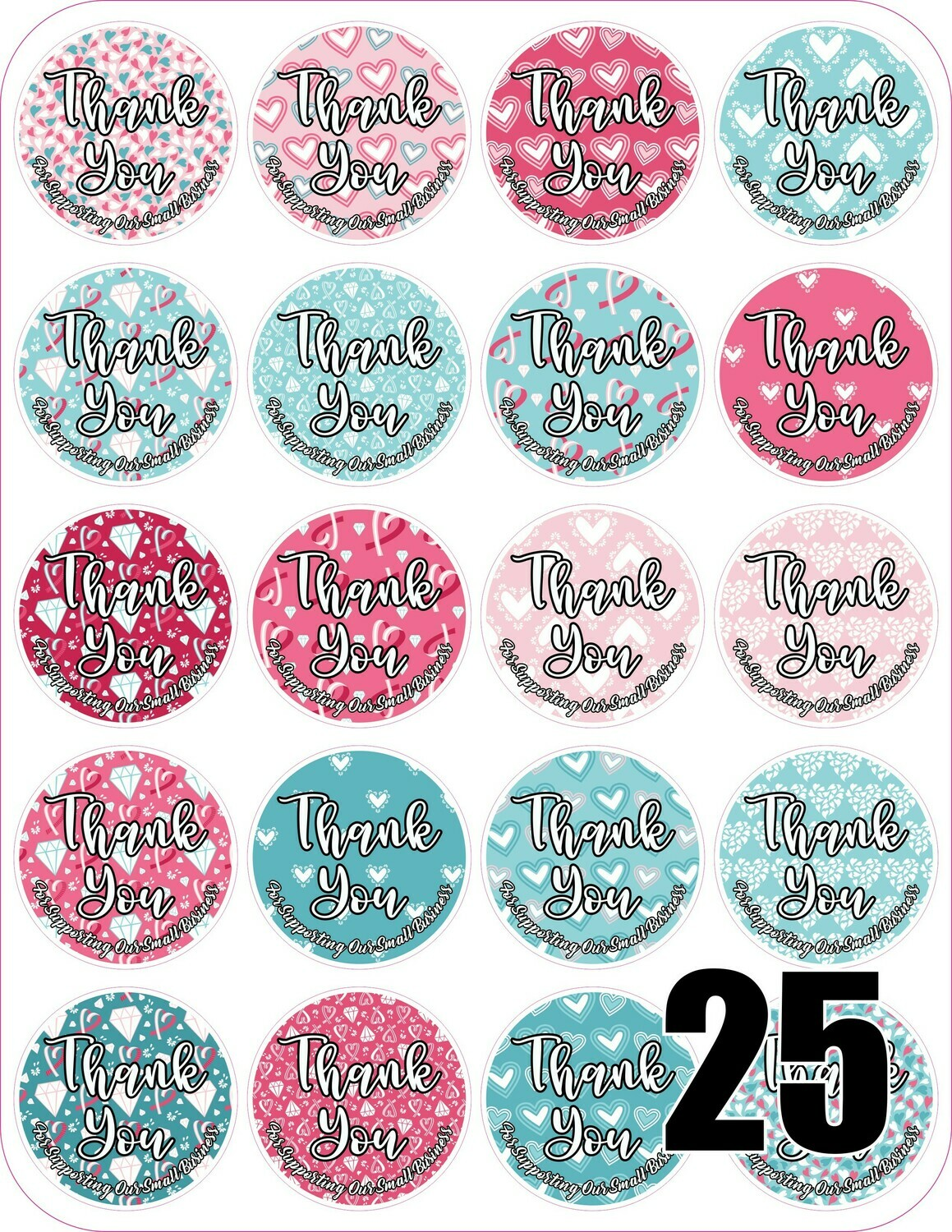 Valentine's Day Thank You Stickers