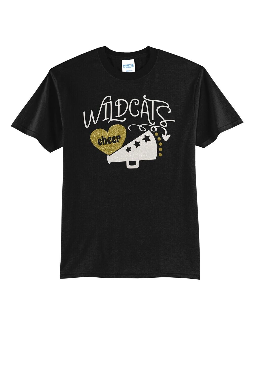 Glitter Cheer Design - T-shirt, Long Sleeve, or Hoodie