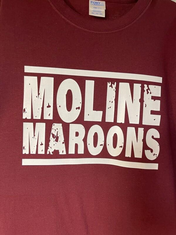 Moline Maroons Distressed T-Shirt