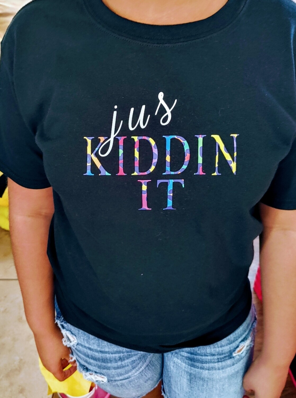 Jus Kiddin It t-shirt cheetah
