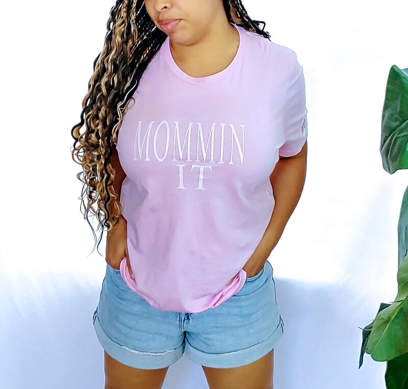MomminIt t-shirt signature pink