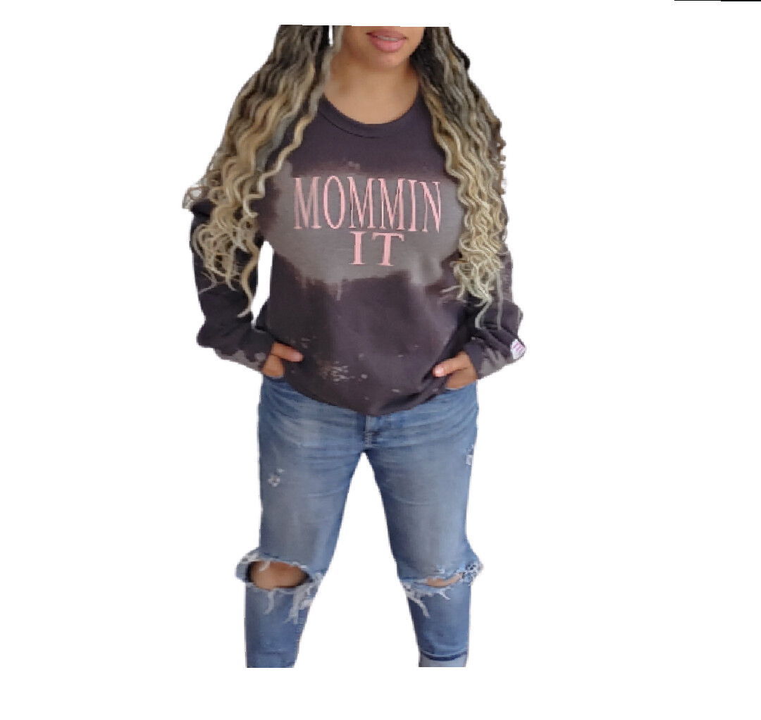 MomminIt bleached out sweatshirt