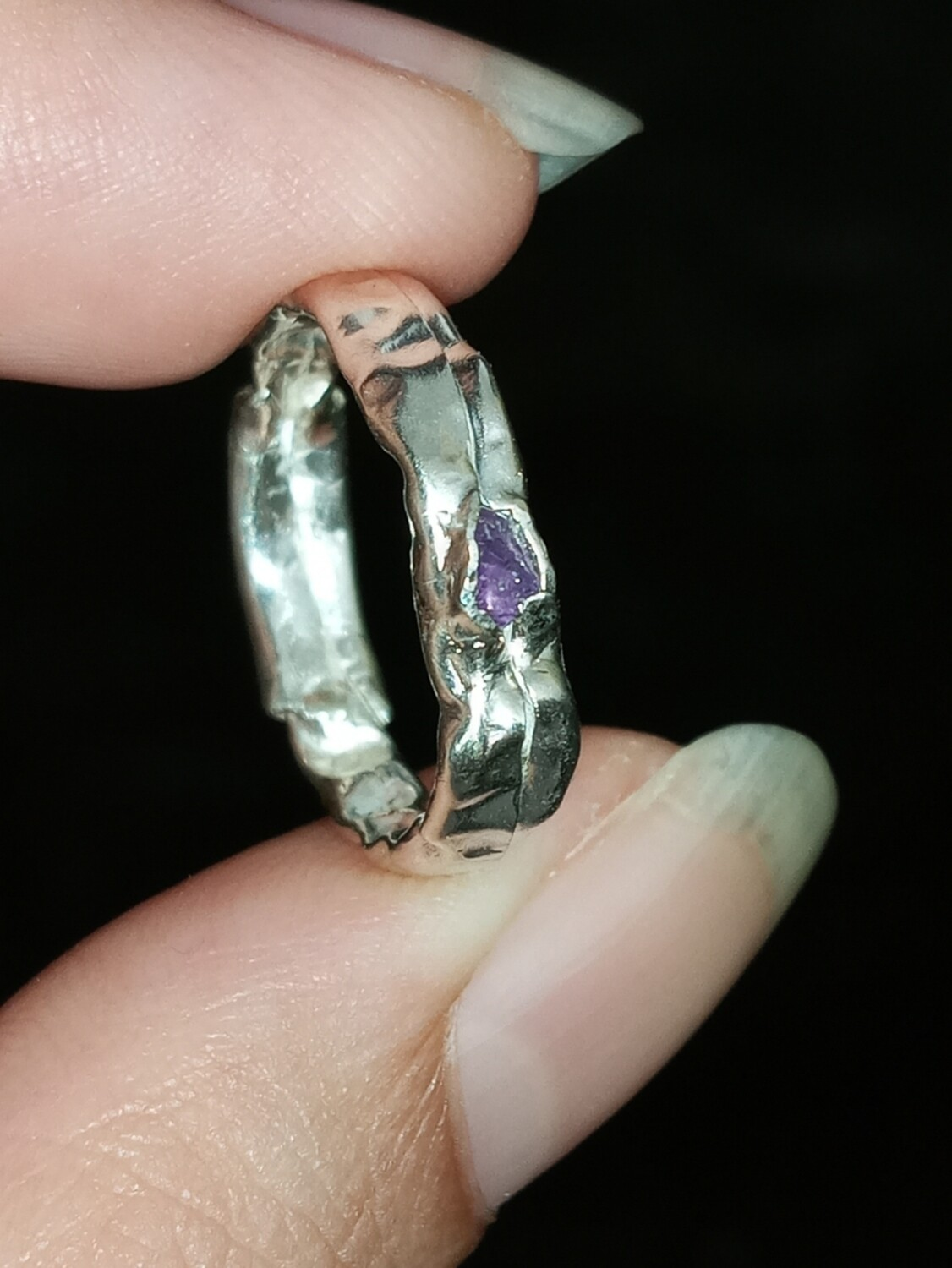 AMETHYST FRACTURED RING