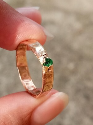 14K GOLD FRACTURED RING