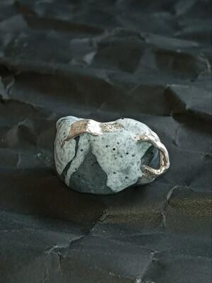 Granite Quartz Silver Ring