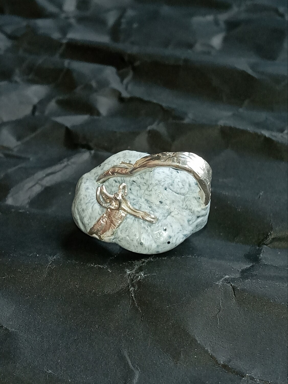 Granite Silver Ring