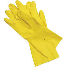 5 PAIR RUBBER GLOVES LARGE