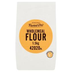 6x1.5kg PLAIN WHOLEMEAL FLOUR BEST BEFORE END NOV 2020