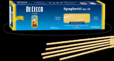 500g DE CECCO SPAGHETTI no.12