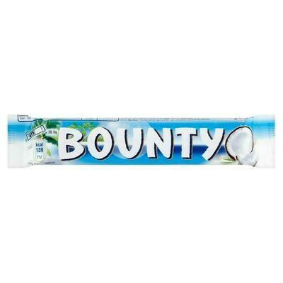 BOUNTY CHOCOLATE BARS - 24x57gr