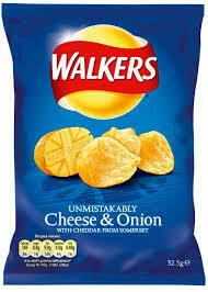 32x34.5g WALKERS CHEESE & ONION CRISPS