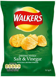 32x34.5g WALKERS SALT & VINEGAR CRISPS