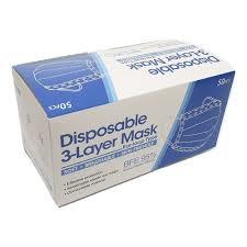 DISPOSABLE 3- LAYER FACE MASKS - 50pcs