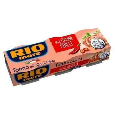 RIO MARE TUNA WITH ITALIAN CHILLI - 3X80gr
