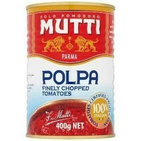 MUTTI POLPA FINELY CHOPPED TOMATOES - 6x400gr