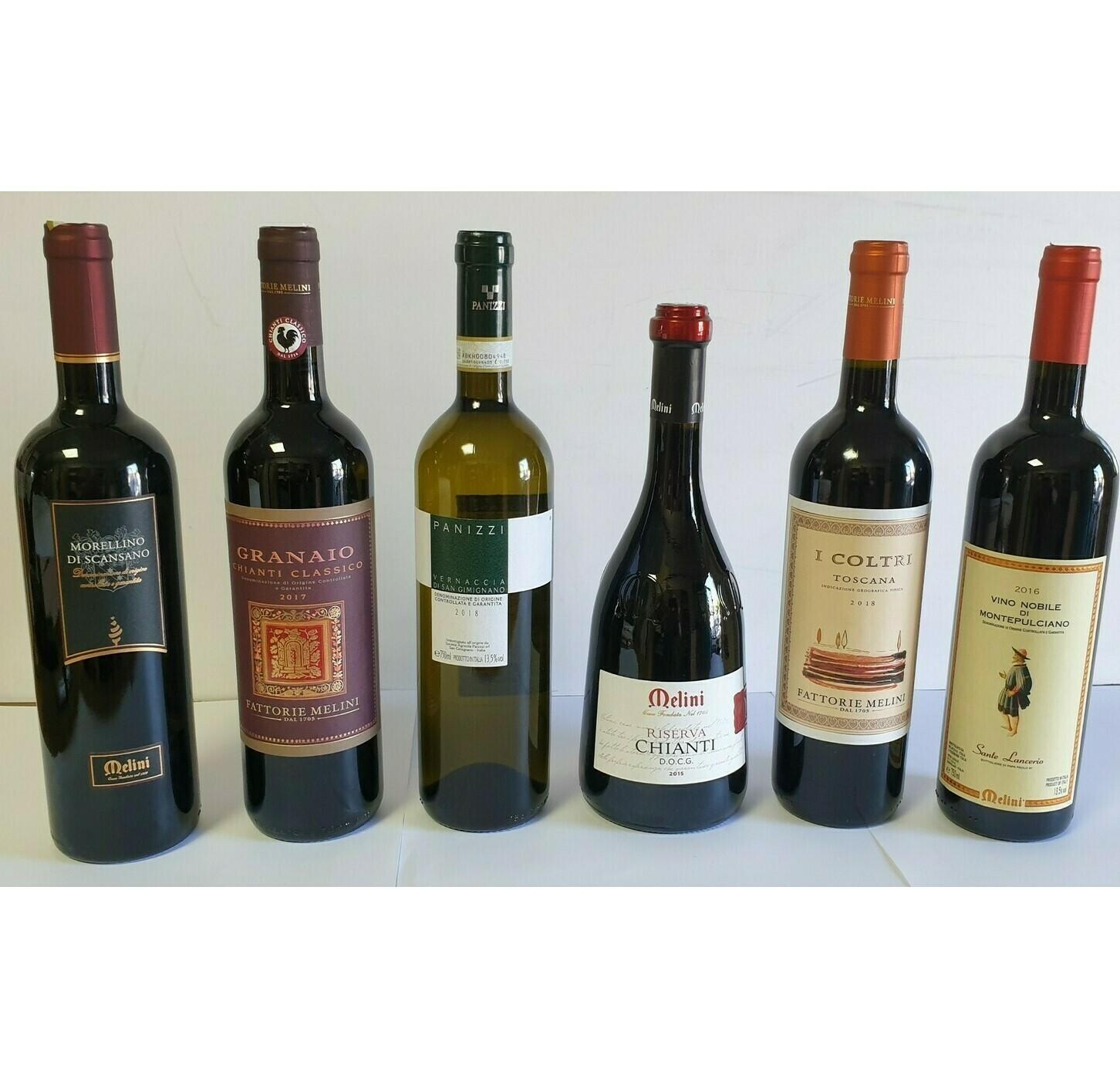 TUSCAN TREASURES 6 bottles