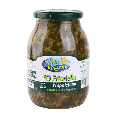 FRIARIELLI NAPOLETANI IN SUNFLOWER OIL JAR - 960gr